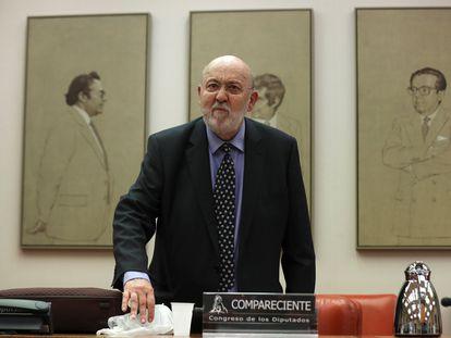 El presidente del Centro de Investigaciones Sociológicas, José Felix Tezános, en el Congreso de los Diputados el año pasado.