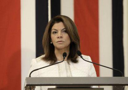 La presidenta costarricense Laura Chinchilla.