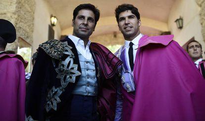 Francisco y Cayetano Rivera, en la corrida de la Goyesca.