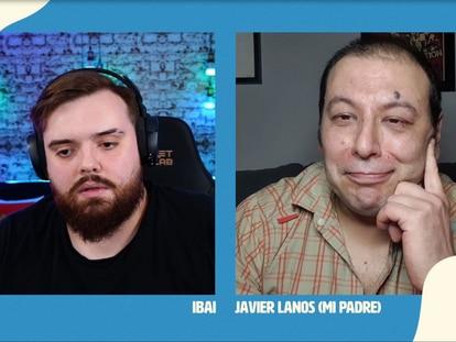 Ibai Llanos en entrevista con su padre, Javier Llanos, en Twitch
