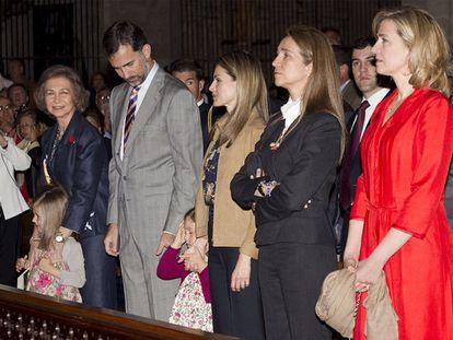La Familia Real, en la misa de hoy