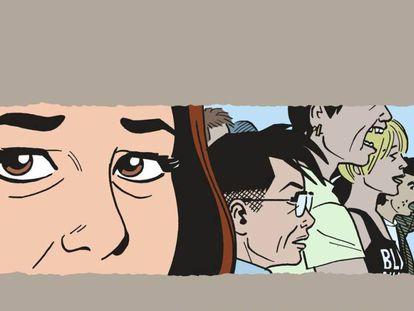Detalle de la cubierta de '¿Es así como me ves?'.