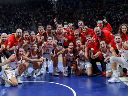 España celebra la medalla de bronce