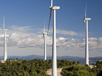 Parque eólico de Boira (Valencia), operado por Acciona.