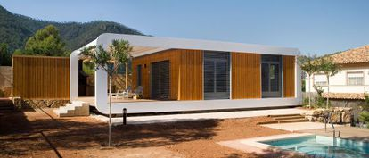 Casa de módulos de madera de Noem ubicada en Castellón.
