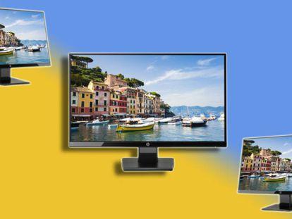 El monitor HP 24w 1CA86AA con pantalla Full HD y de 24 pulgadas.