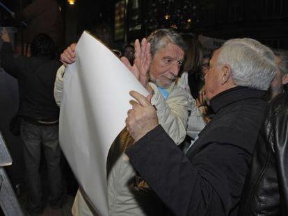 El exgerente Emilio Pascual (izquierda) con José Luis Baltar