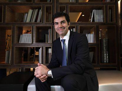 El gobernador Juan Manuel Urtubey, antes de la entrevista con EL PAÏS, en el marco de la Cumbre de Economía Circular realizada en Madrid.