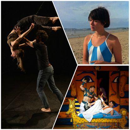 Espectáculo de danza 'Solo, con ella y contra ella'; fotograma de 'Pauline en la playa'; obra de teatro 'La corte del Faraón'