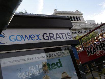 Anuncio de Gowex en Madrid.