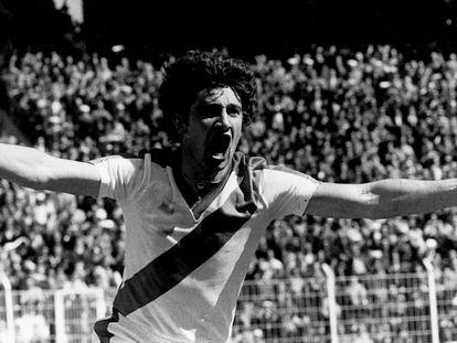 Fernando Morena celebra uno de sus goles con el Rayo Vallecano. Diario AS