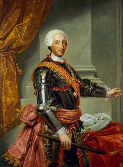 Retrato de Carlos III, copia de A. R. Mengs