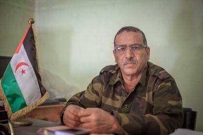 El oficial del ejército de la República Árabe Democrática Saharaui y director de la escuela militar 12 de Octubre, Habuha Braica.