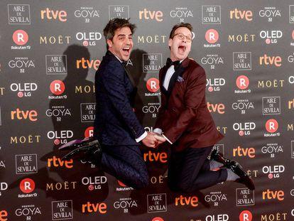 Ernesto Sevilla y Joaquín Reyes, los presentadores de la gala. Sus chistes no fueron de lo mejor de la noche.