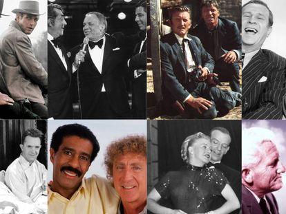De izquierda a derecha y de arriba a abajo: Robert Redford y Paul Newman; Dean Martin, Frank Sinatra y Jerry Lewis; Burt Lancaster y Kirk Douglas; Abbot y Costello; Laurel y Hardy; Richard Pryor y Gene Wilder; Ginger Rogers y Fred Astaire; y Spencer Tracy y Katharine Hepburn. En vídeo, el tráiler de 'Adivina quién viene esta noche'.