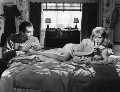 James Mason and Sue Lyon, in
