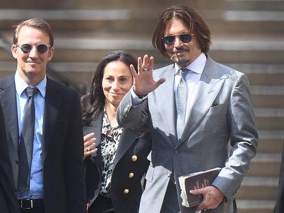 Johnny Depp, a la salida del tribunal el pasado jueves.