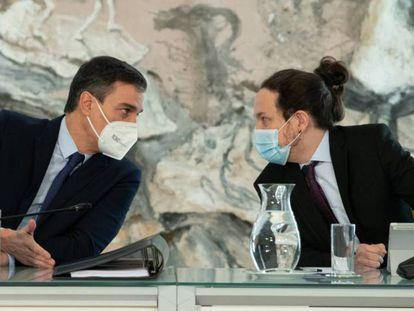 El presidente del Gobierno, Pedro Sánchez, y el vicepresidente segundo, Pablo Iglesias, este 2 de marzo.