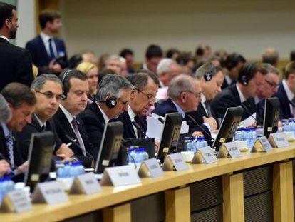 Reunión de ministros de Exteriores europeos del Consejo de Europa.