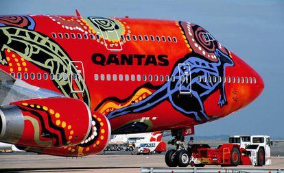 Un avión de Qantas.