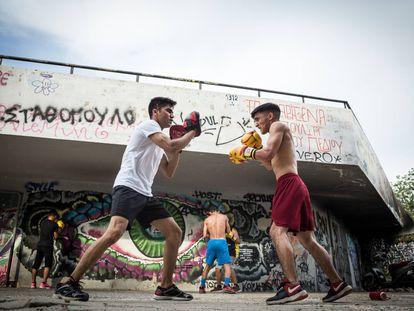 Entrenar cuerpo y mente para sobrevivir a Lesbos