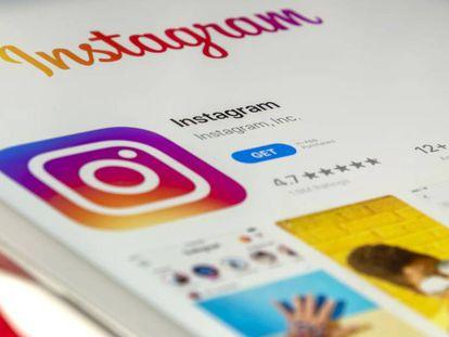 Imagen de la aplicación de Instagram en un móvil.