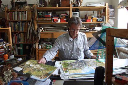 Sven Nordqvist, en su estudio en Estocolmo.