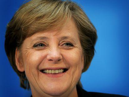 Angela Merkel, en una rueda de prensa en Berlín en el año 2005.