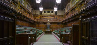 La Casa de los Comunes del palacio de Westminster, en Londres.