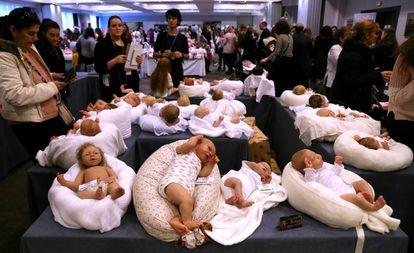 Feria de muñecos Dolls and reborn International Show en Madrid.