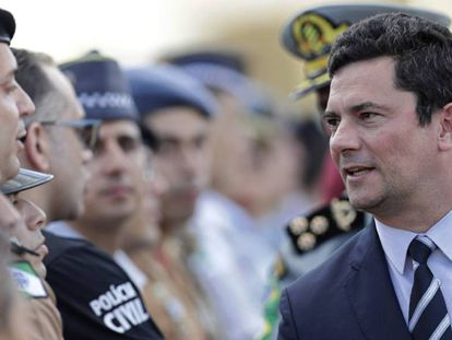 Sergio Moro, ministro de Justicia de Brasil, la semana pasada en Brasilia.