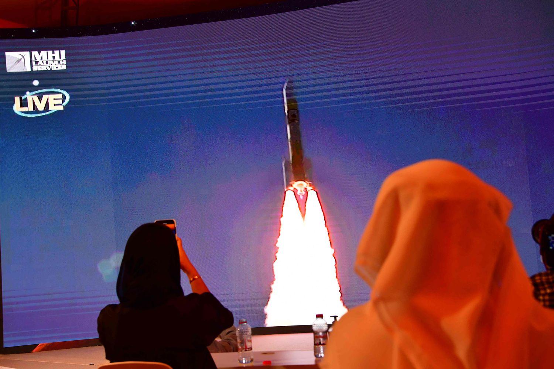 Foto tomada el 19 de julio pasado en Dubai, durante la salida de la misión 'Al Amal'.