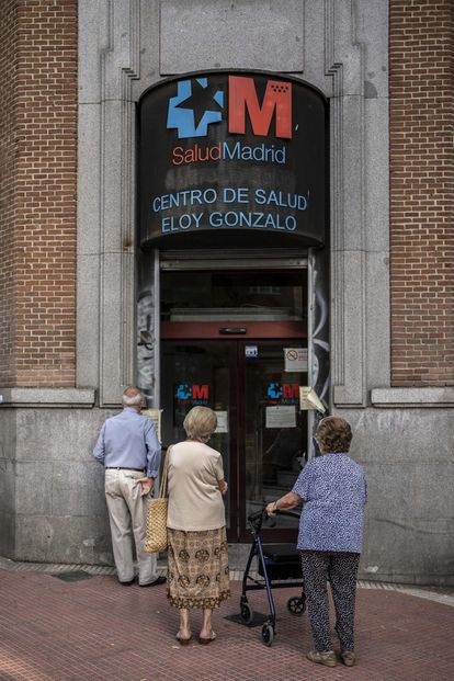 El centro de salud de Eloy Gonzalo, en Chamberí.