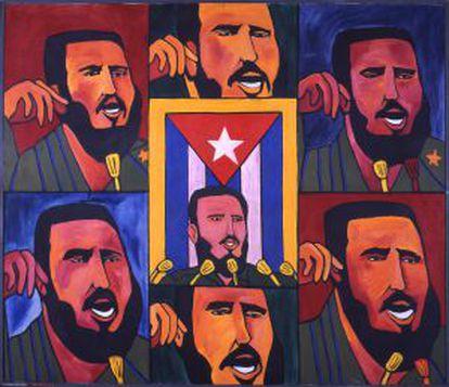 'Repeticiones con bandera' (1966), del cubano Raúl Martínez.