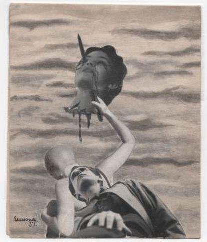 Fotomontaje de Lekuona de 1937.