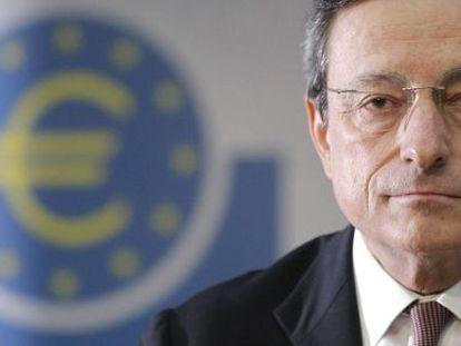 Draghi, durante una conferencia de prensa en julio.