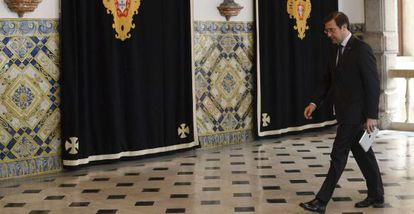 Passos Coelho llega al Palacio Nacional de Belém.
