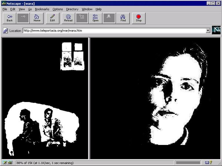Captura de pantalla de 'My Boyfriend Came Back From the War', obra de la artista rusa Olia Lialina.