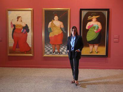 Lina Botero en la exposición 'Botero. 60 años de pintura' en CentroCentro.