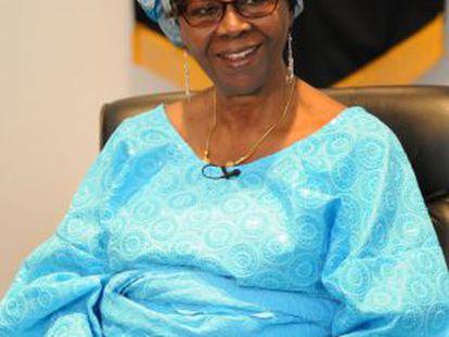 La doctora Olayinka Koso-Thomas el miércoles en la UNAM.