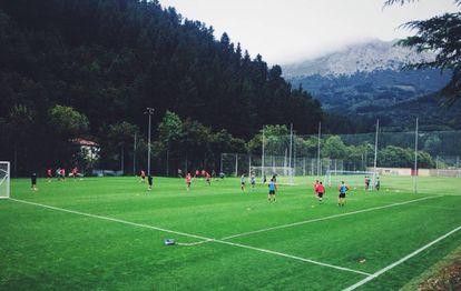 Campo de entrenamiento del Eibar en Atxabalpe.