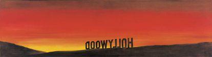 'The Back of Hollywood' (1977), óleo de Ed Ruscha.