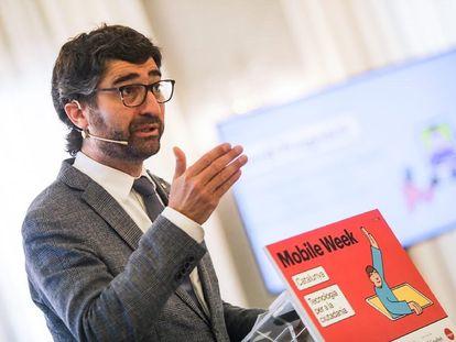 El consejero de Políticas Digitales y Administración Pública de la Generalitat, Jordi Puigneró, en un acto el pasado día 17.