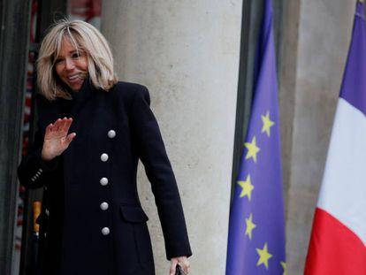 Brigitte Macron, el 6 de febrero en el Elíseo.