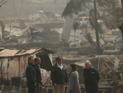 El presidente y las autoridades del Estado se dan una tregua institucional para coordinar su respuesta al drama del incendio de Paradise