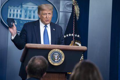El presidente de Estados Unidos, Donald Trump, en Washington, el pasado 22 de julio.