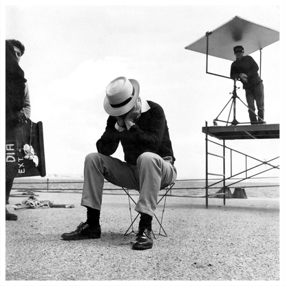 Berlanga, en el rodaje de 'El verdugo', en 1963.
