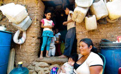 Una familia en el Estado mexicano de Guerrero.