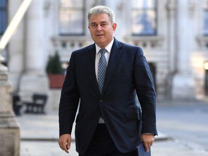 El ministro para Irlanda del Norte, Brandon Lewis, en una imagen de archivo, en Londres.