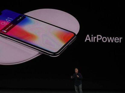 Phil Schiller, vicepresidente de marketing de Apple, en la presentación del iPhone X.